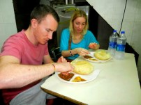 Trying food in Old Delhi India