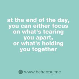 holding together