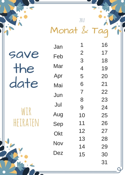 DIY Save The Date Karte  Freebie zum Ausdrucken  Mrs Bridal