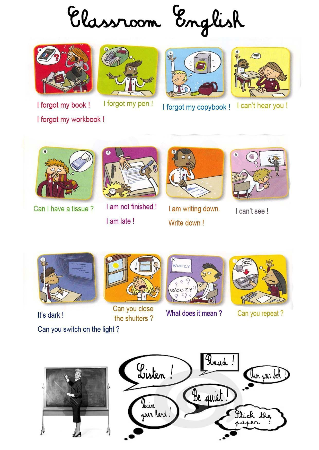 Free Esl Classroom Posters And Worksheets Yeminli Sozluk