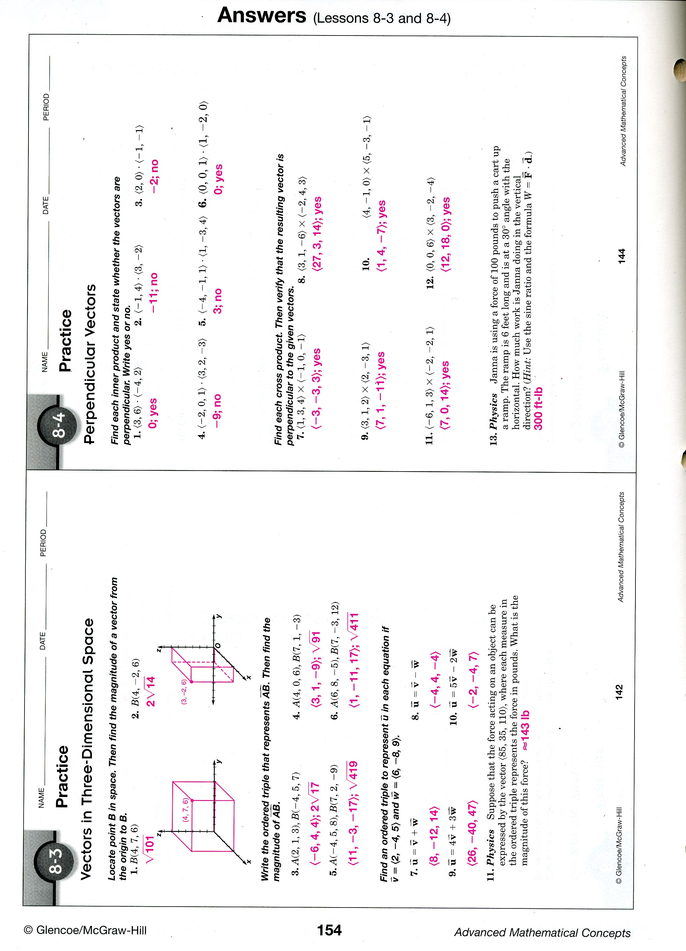 mrscabral / Ch 8 Worksheet Answers