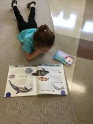 Ivy is a reader!