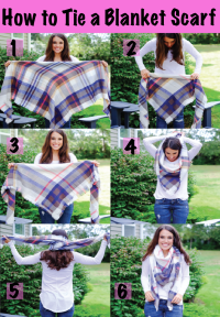 How to Tie a Blanket Scarf | MrsCasual