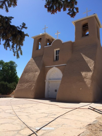 It is a very iconic New Mexico church. They were actually remudding it when we were there. They adobe is made with a mixture of earth, straw, water, and ox/cow's blood.