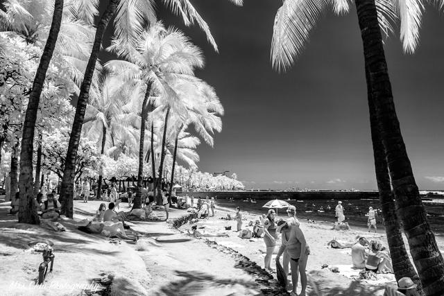 Waikiki Beach in IR