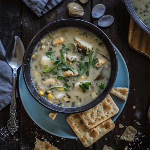 Beautiful seafood chowder