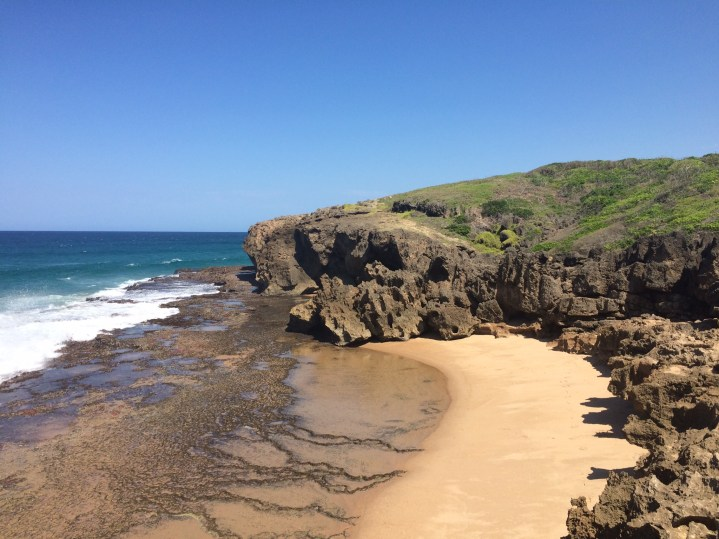 Climb around the rocks & find this cove