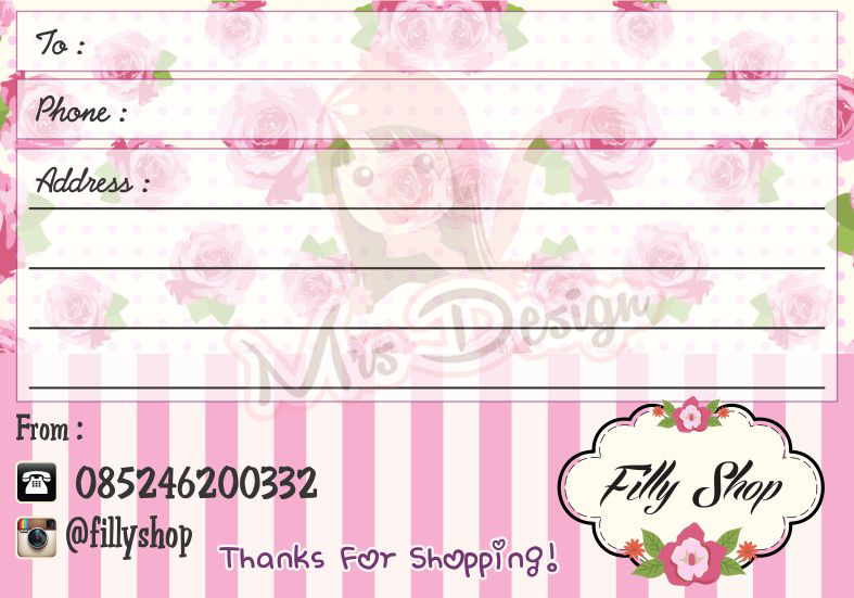 Inspirasi Address Sticker untuk Online Shop mu