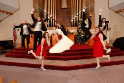 Bridal Party Christmas Red Wedding