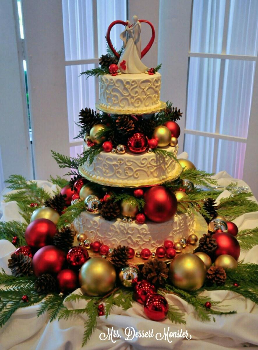 Wedding Wednesday  Our Christmas Wedding Cake  Mustang Grooms Cake  Mrs Dessert Monster