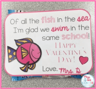 Valentine's Card Printable. Free printable valentine's day card for teachers. Blog post at Mrs. D's Corner.
