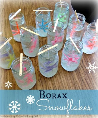 Borax Snowflakes are a great science experiment for students, and the perfect lesson extension for Snowmen at Night.