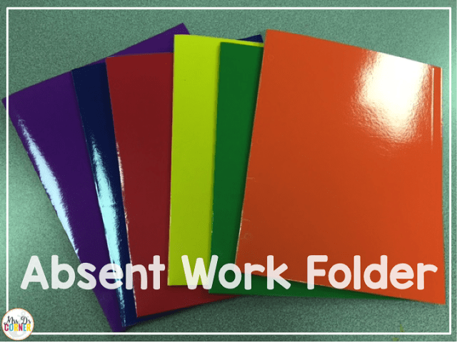 In a color coded classroom you color code all the things. It's no different when it comes to student work folders.
