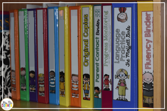 Staying Organized in SPED { Color Coded Classroom } - Mrs