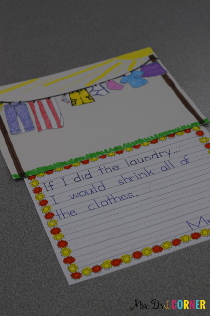Mrs. McNosh Hangs Up Her Wash is a great children's book to introduce laundry, but let the hilarity ensue. The book is about Mrs. McNosh hanging up her laundry and a long, silly list of other things. Book companion available to make lesson planning no prep. Blog post at Mrs. D's Corner.