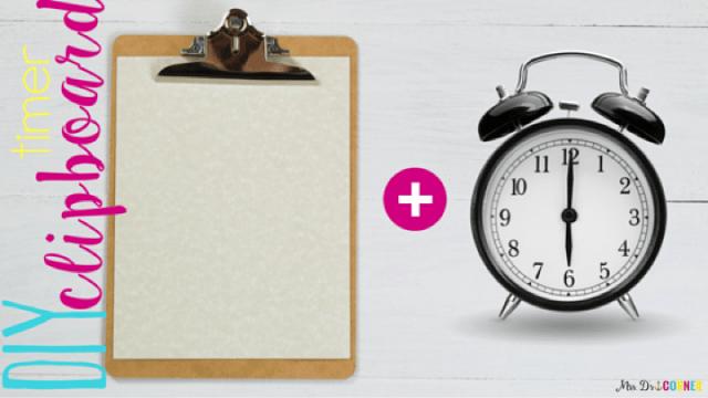 DIY timer clipboard blog header