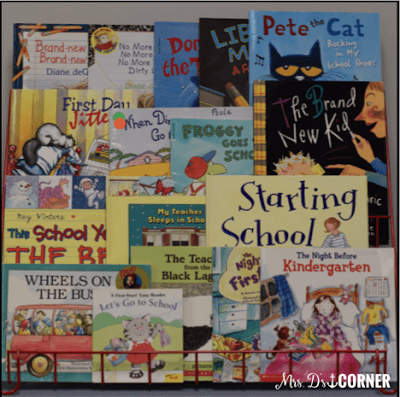 children's books for back to school and the first two weeks of school