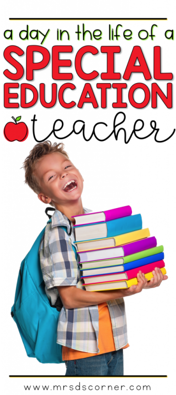 A day in the life of a special education teacher. Teacher humor about a special ed teacher life. Blog post at Mrs. D's Corner.