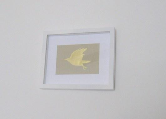 DIY Gold Leaf Bird Art | Mrs. Fancee