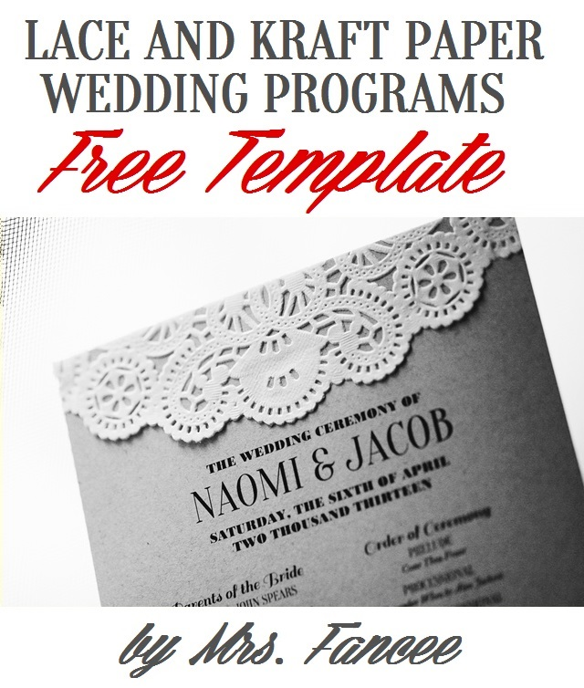 free printable wedding program templates - wedding program template mrs fancee