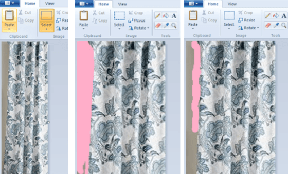room layout in word and paint 10