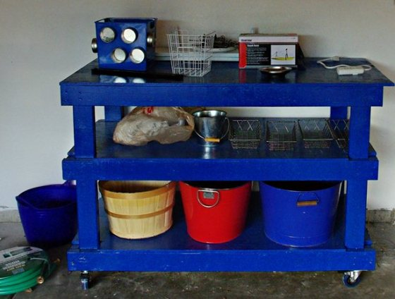 A Garage Transformation and DIY Workbench | Mrs. Fancee