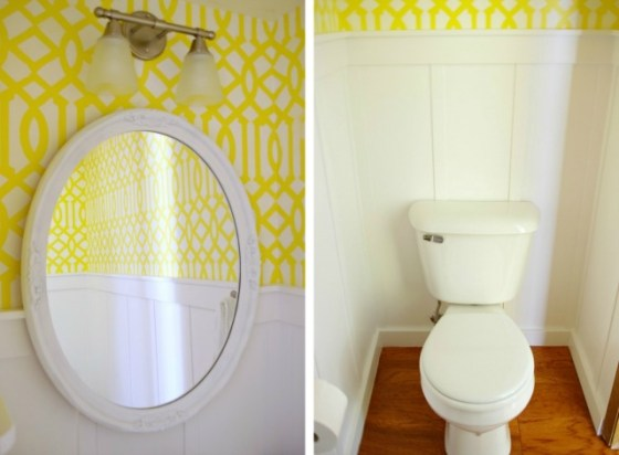 Bright and clean half bath reno | Mrs. Fancee