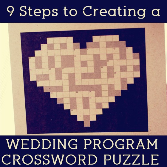 Wedding Program Crossword | Mrs. Fancee Keep Guests Entertained while they Wait for the Ceremony
