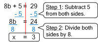 One & Two Step Equations - Welcome to Mrs. Flannery's math ...