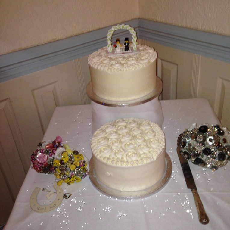 Bouquets and cake!