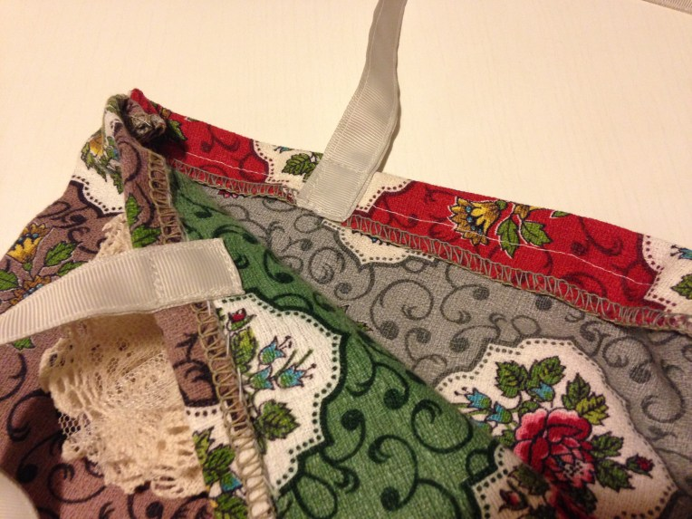 Sewing action inside