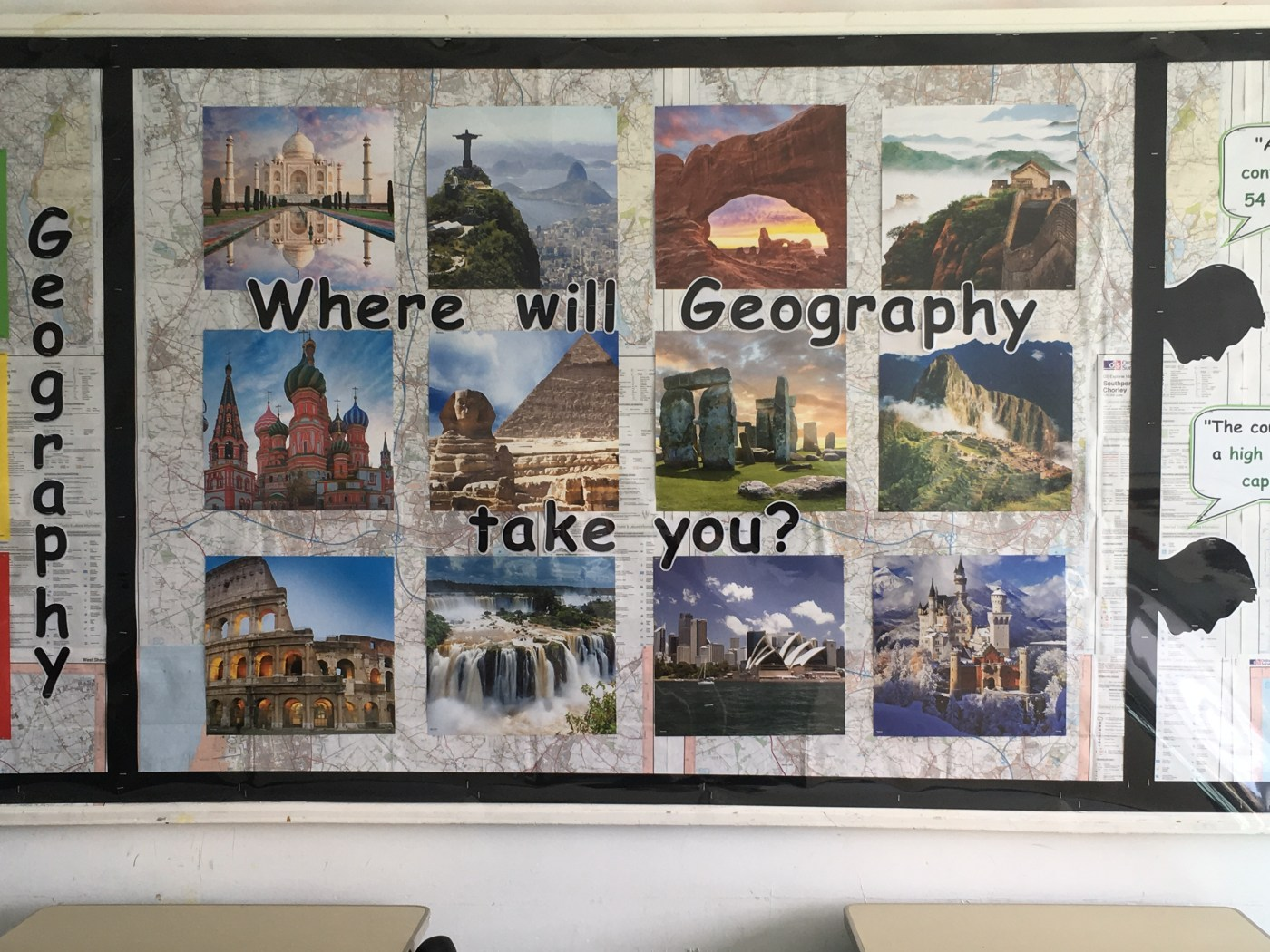 hight resolution of geography display ideas