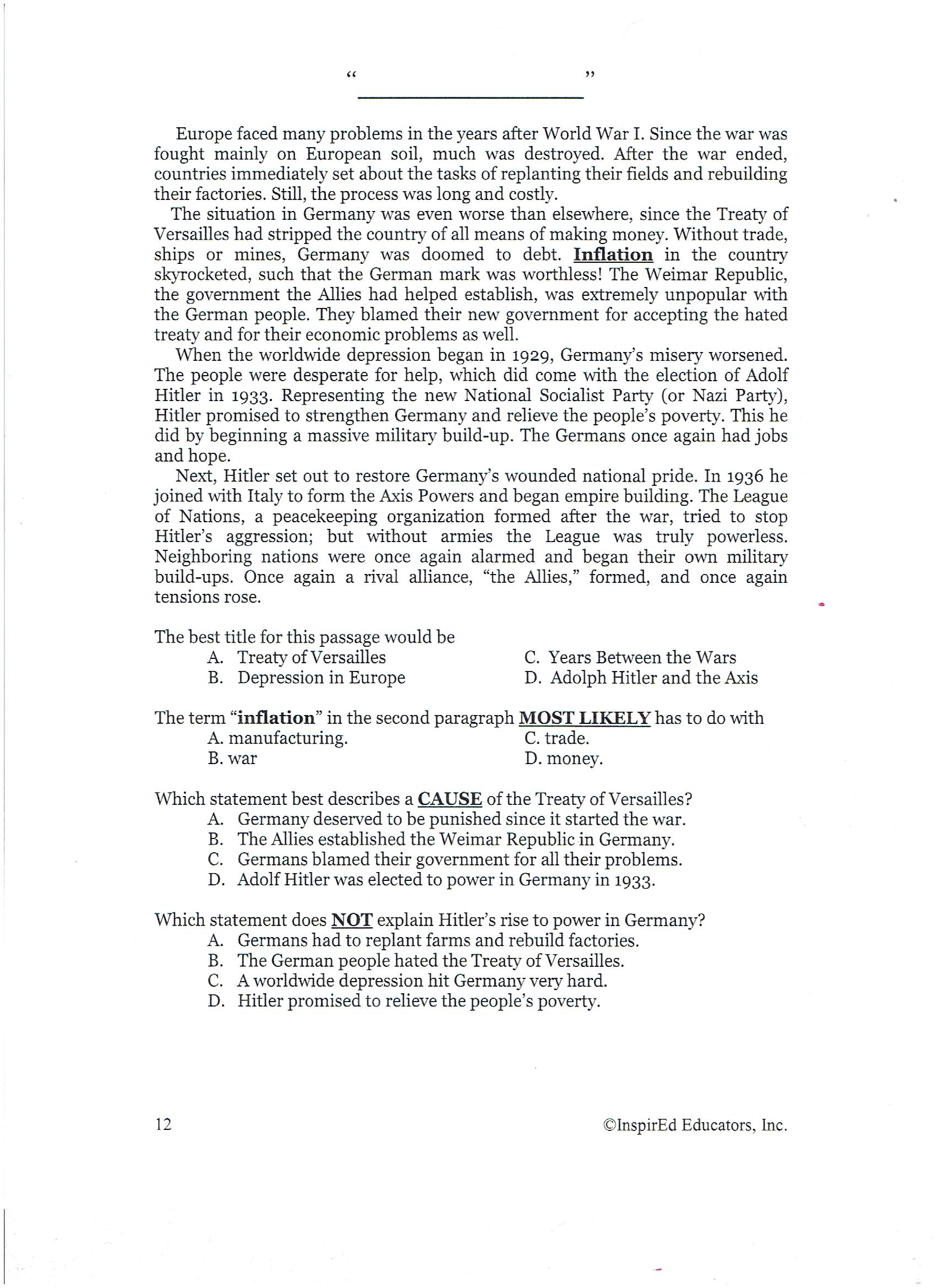 Worksheet Treaty Of Versailles Worksheet Grass Fedjp