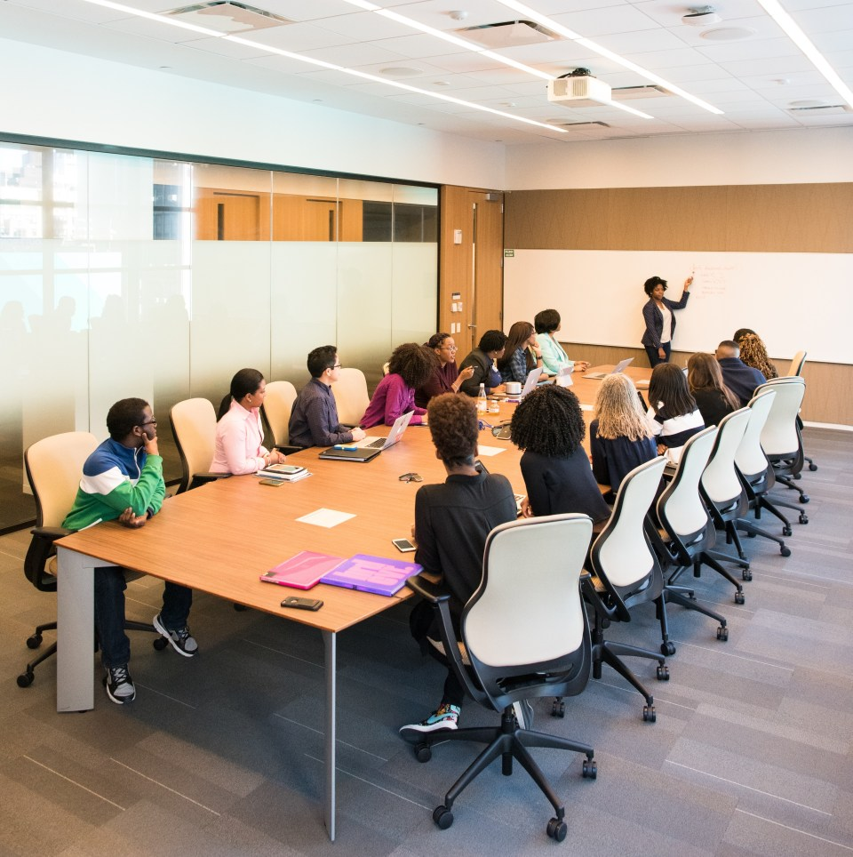 business people meeting in a conference room