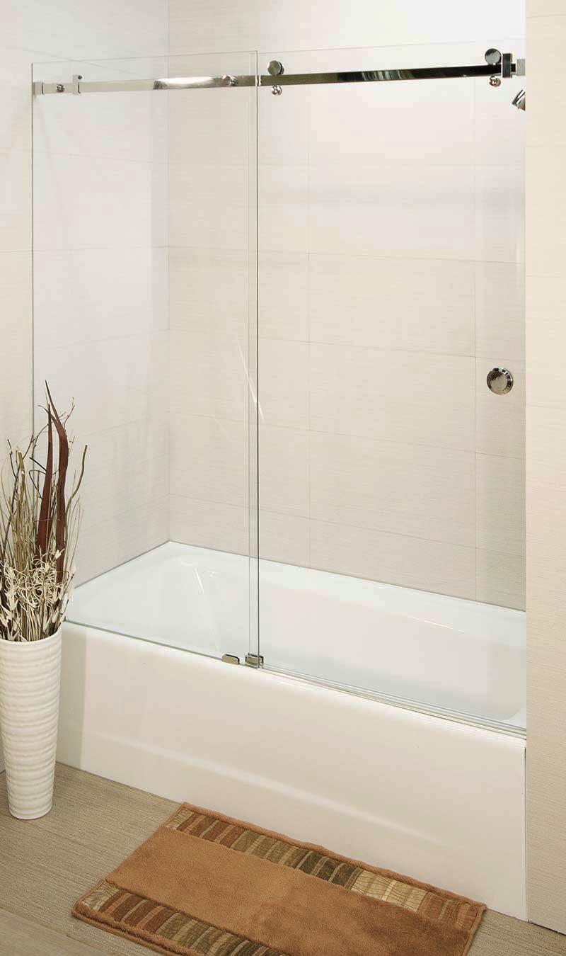 Volante Frameless Sliding Shower Enclosure Single Slider