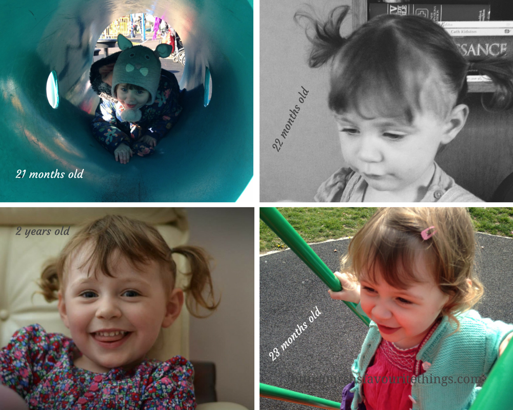Sharing four photographs of our daughter taken between the ages of 21 months old and 2 years old - Little Miss H at three years old - Mrs H's favourite things