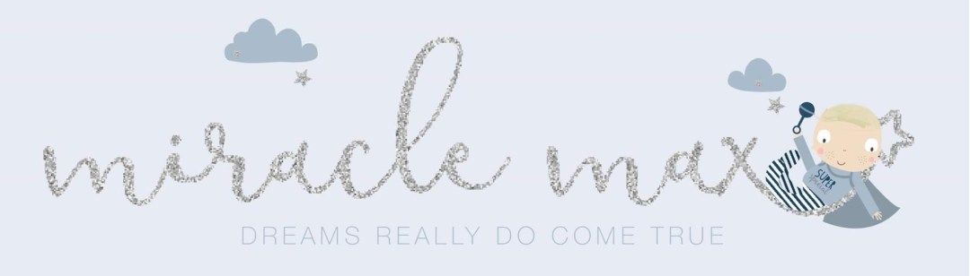 The logo to the blog Miracle Max - My Rainbow Baby featuring Miracle Max _ Mrs H's favourite things