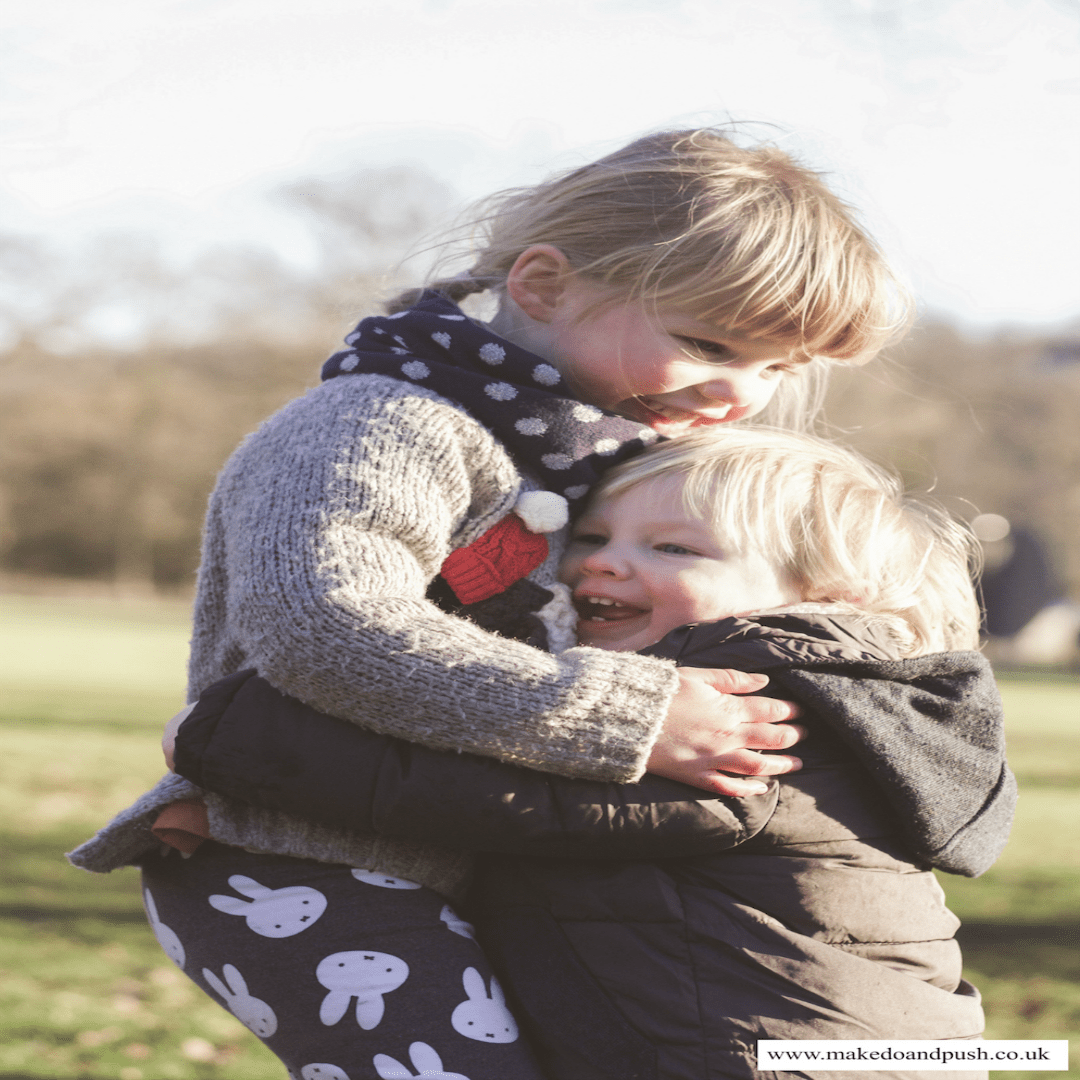 A beautiful photograph taken by Hannah from Make, Do & Push - of her two children in the Yorkshire Sculpture Park - this was her photo from January's Siblings - My Favourite Bloggers featuring Make, Do & Push - Mrs H's favourite things