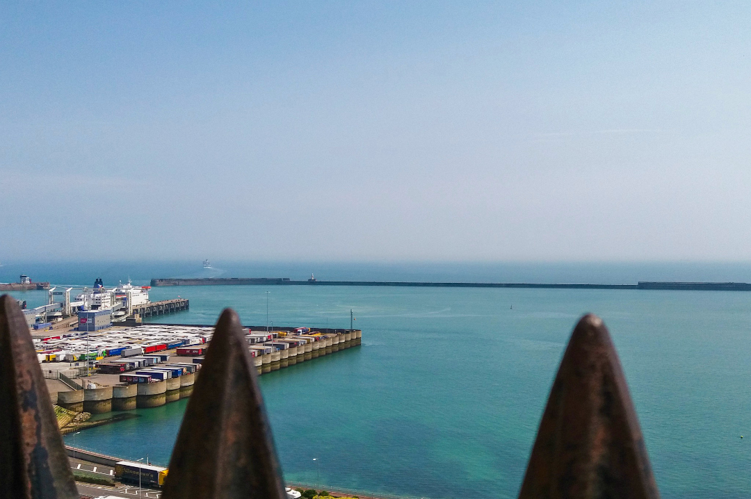 A photograph of the view of the English Channel from the top of the Great Tower at Dover Castle - A Day at Dover Castle with the Quinny Zapp Flex Plus - Mrs H's favourite things