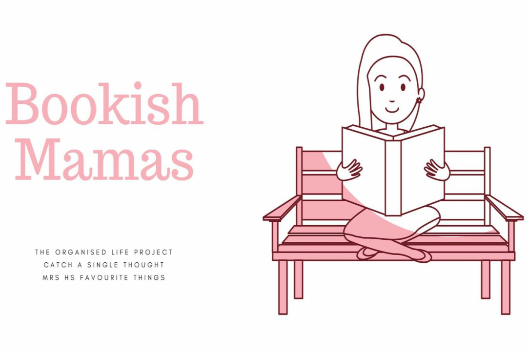 The logo for the Facebook Book Club - Bookish Mamas - run by Jess at Catch A Single Thought, Naomi at The Organised Life Project and Lucy at Mrs H's favourite things - a book club for Mamas who love to read - For the Love of Books - Introducing Bookish Mamas - For Mamas who Love to Read - Mrs H's favourite things