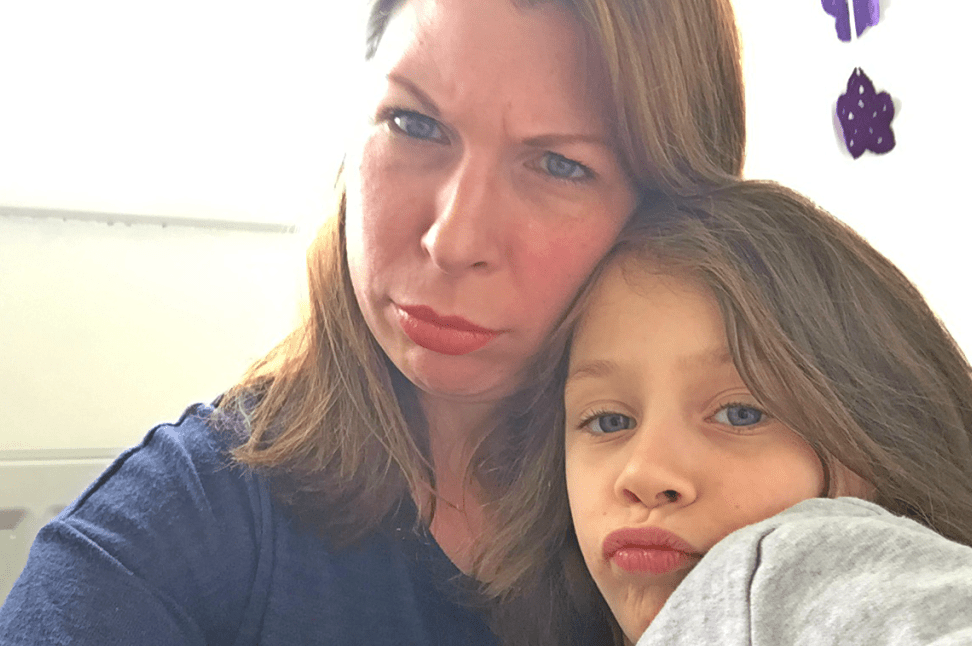 A photo of a mum and daughter pouting in a selfie - Allow Your Child To Be An Individual - Mrs H's Favourite Things