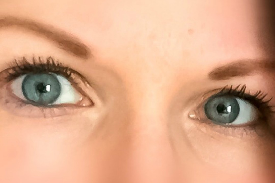 A photograph of a lady's bright blue eyes with eye make-up - Top 10 Self-Care Techniques Collaboration With Mummy In Training - Mrs H's favourite things