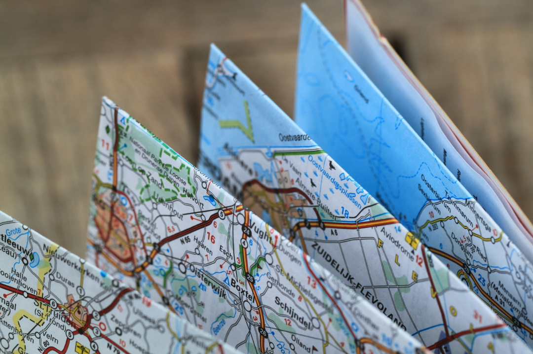 A photograph of a folded map - 3 Surefire Strategies To Organise The Perfect Family Holiday - Mrs H's favourite things3-surefire-strategies-to-organise-the-perfect-family-holiday-mrs-hs-favourite-things