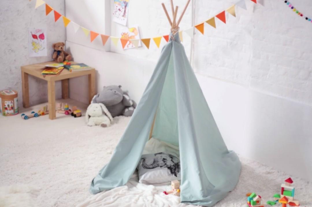 A photograph of a kids tepee in their bedroom - Home Improvement Ideas For The Family Home - Mrs H's favourite things