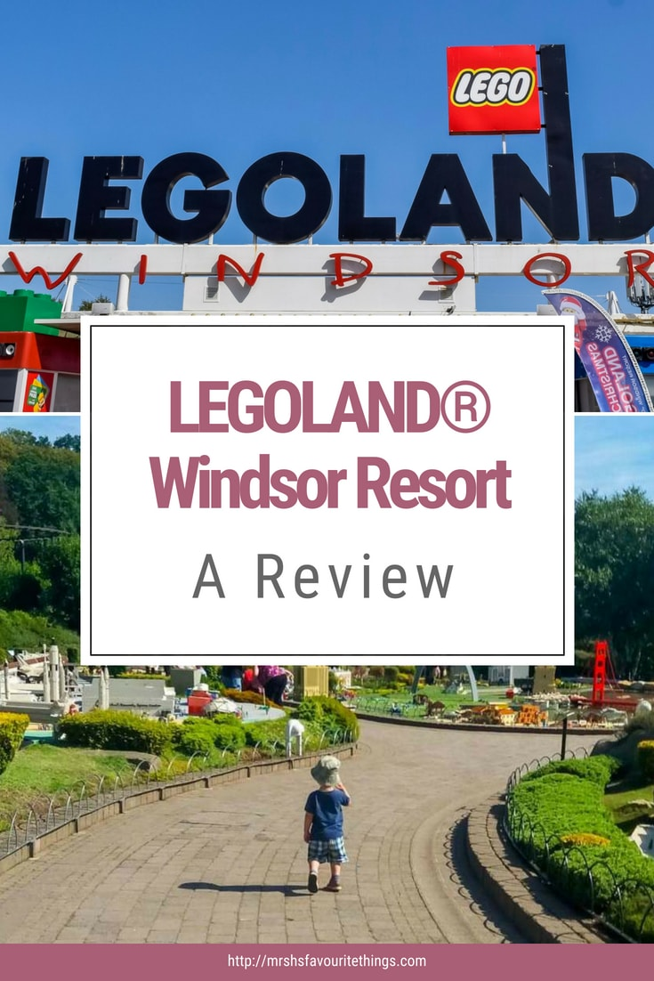 A pinterest image with photographs from LEGOLAND® Windsor Resort - LEGOLAND® Windsor Resort - A review - Mrs H's favourite things