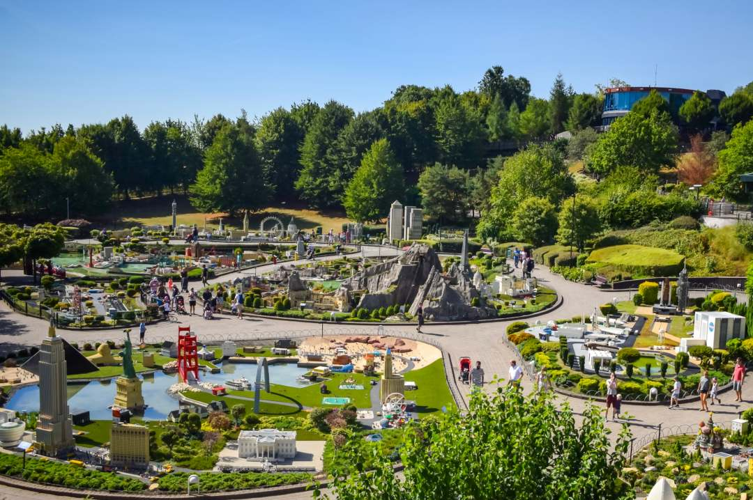 A photograph of Miniland at LEGOLAND® Windsor Resort taken from the aerial ride Sky Rider - LEGOLAND® Windsor Resort - A Review- Mrs H's favourite things
