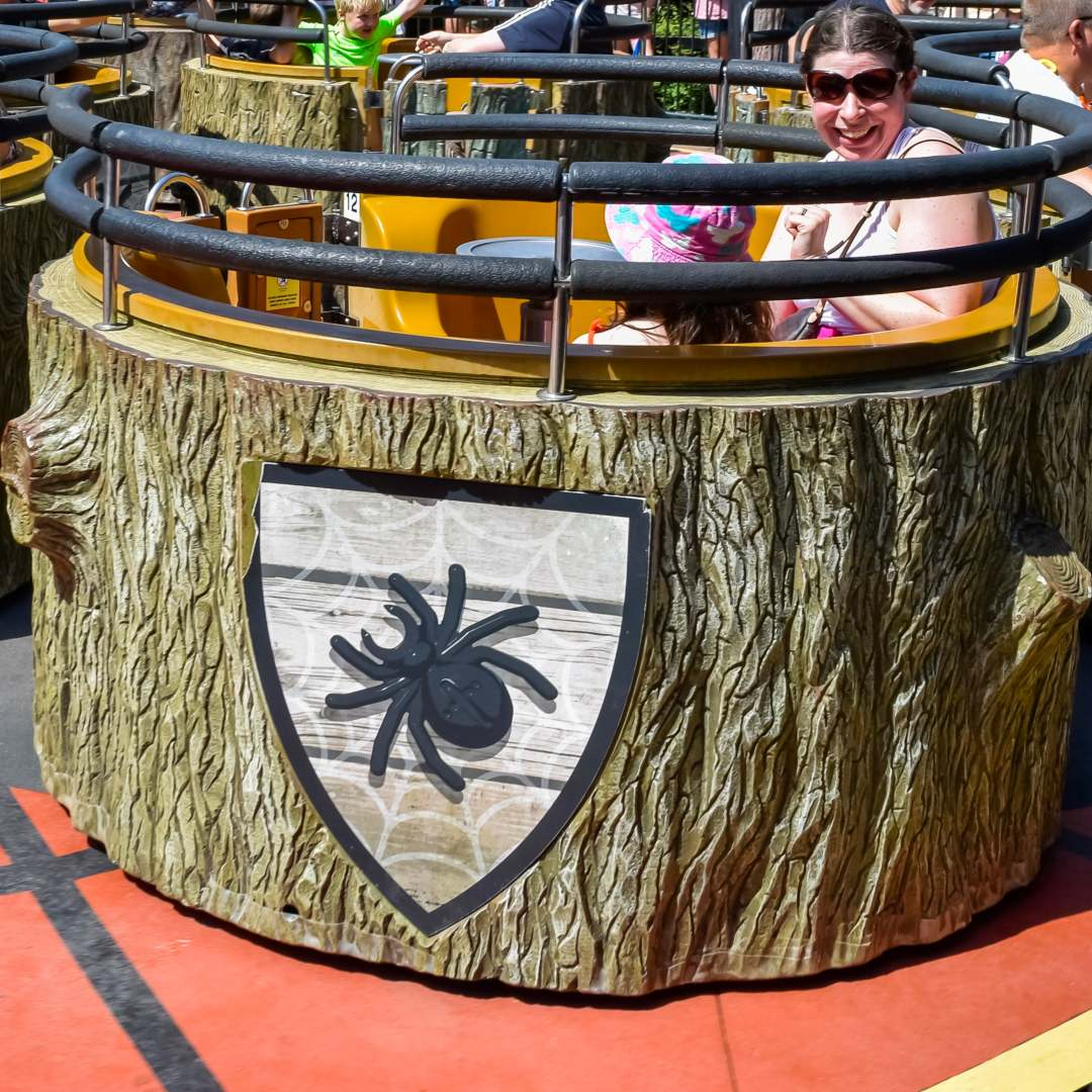 A mother and her daughter on the Spinning Spiders ride at LEGOLAND Windsor Resort - A Review - Mrs H's favourite things