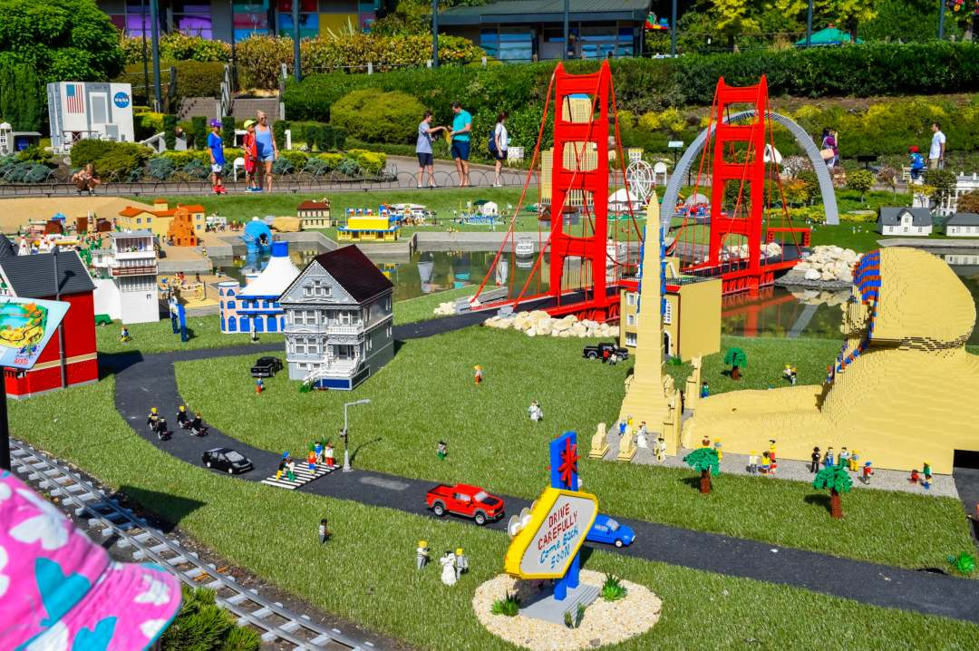 A photograph of part of USA Miniland at LEGOLAND Windsor Resort - LEGOLAND Windsor Resort - A Review - Mrs H's favourite things