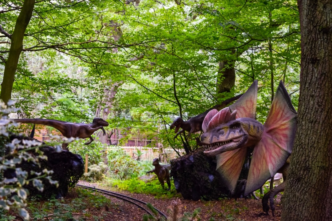 A photograph of some animatronic dinosaurs from the World of Dinosaurs at Paradise Wildlife Park - Paradise Wildlife Park - A Review - Mrs H's favourite things