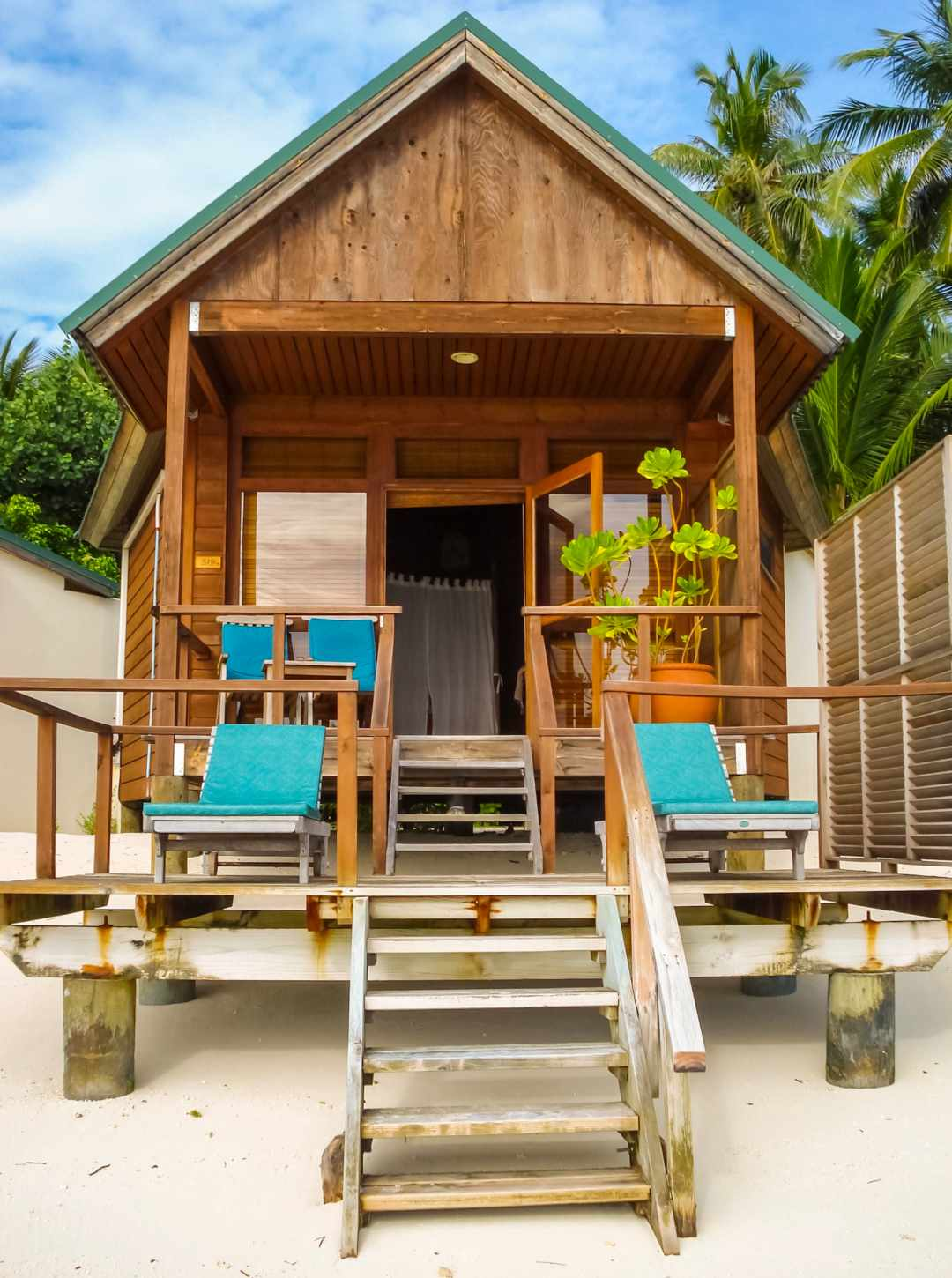 A photo of a water villa on the Maldive Island of Meeru - My Favourite Holiday - Our Honeymoon In The Maldives - Mrs H's favurite things